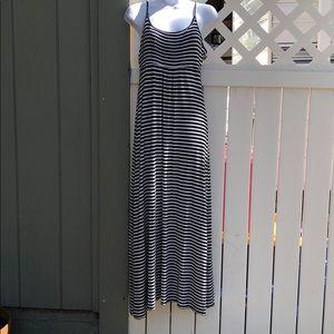 Calvin Klein Striped Maxi Dress